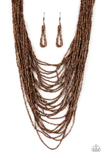 Load image into Gallery viewer, Paparazzi Dauntless Dazzle - Copper Necklace