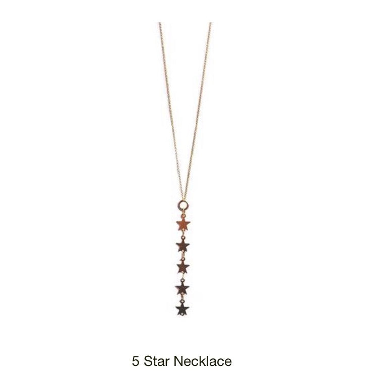 Star Gold Necklace. Everyday jewelry for women.