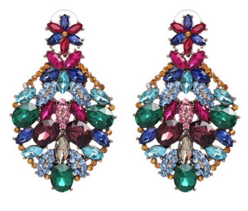 Crystal Garden Drop Earrings