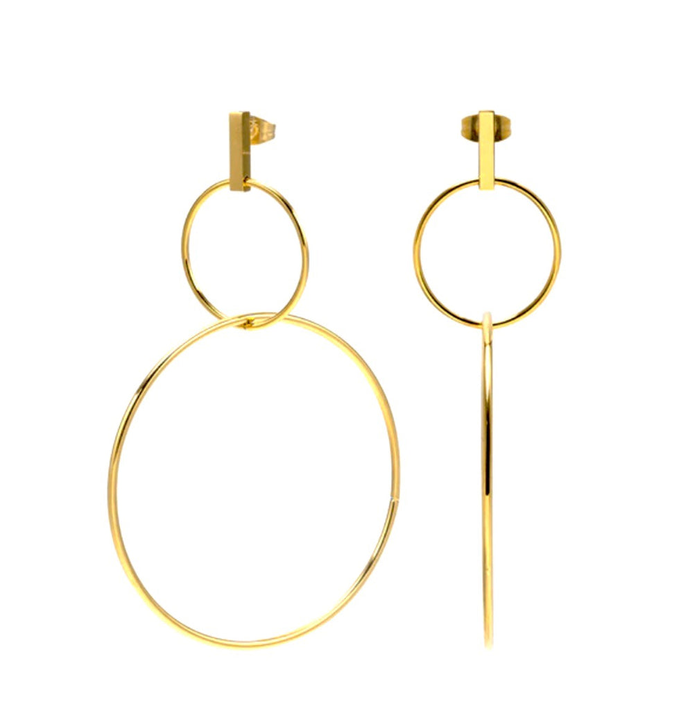 Davi Double Hoop Drop Earrings
