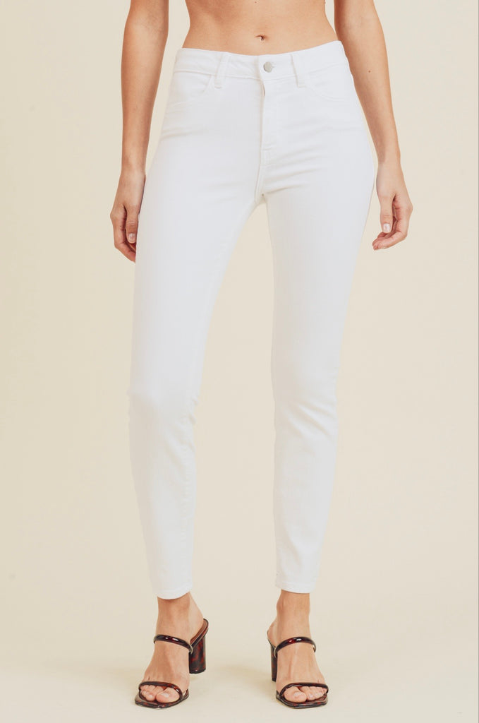 Classic Skinny White Jeans