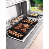 BeefEater - Signature ProLine 6 Burner Built-In Natural Gas BBQ with Hood BSH158SA - Natural (House) Gas - Inbuilt Barbecues