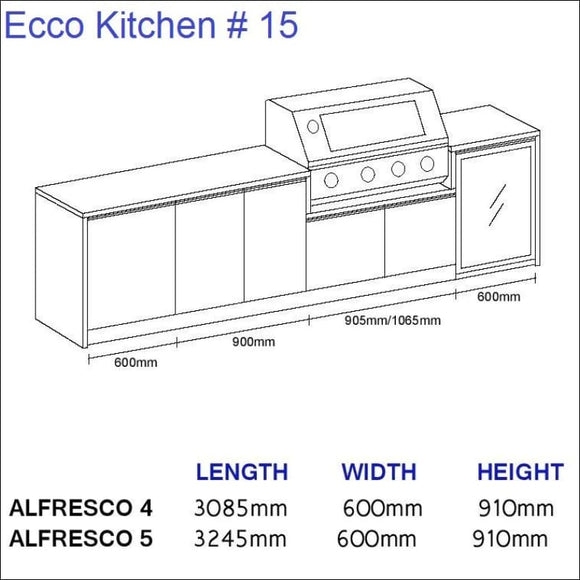 Ecco Kitchen 15 - up to 3245 mm long