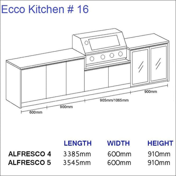 Ecco Kitchen 16 - up to 3545 mm long