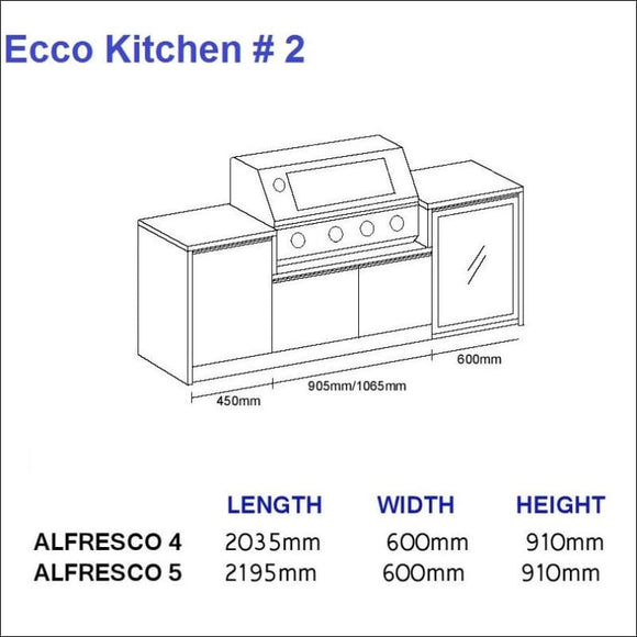 Ecco Kitchen 2 - up to 2195 mm long