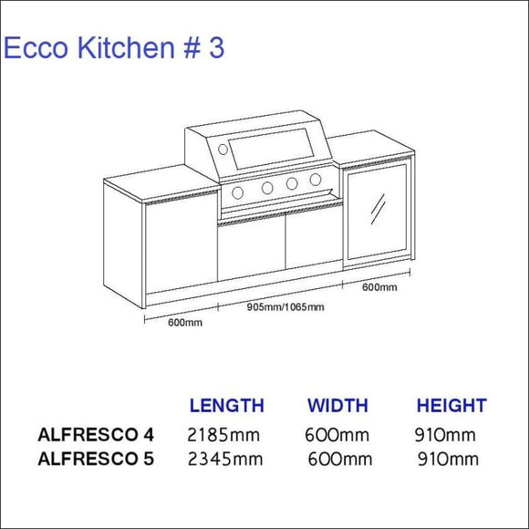 Ecco Kitchen 3 - up to 2345 mm long