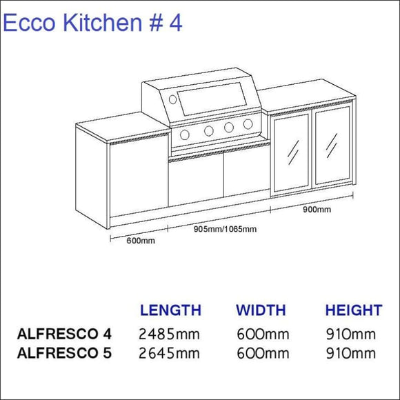 Ecco Kitchen 4 - up to 2645 mm long