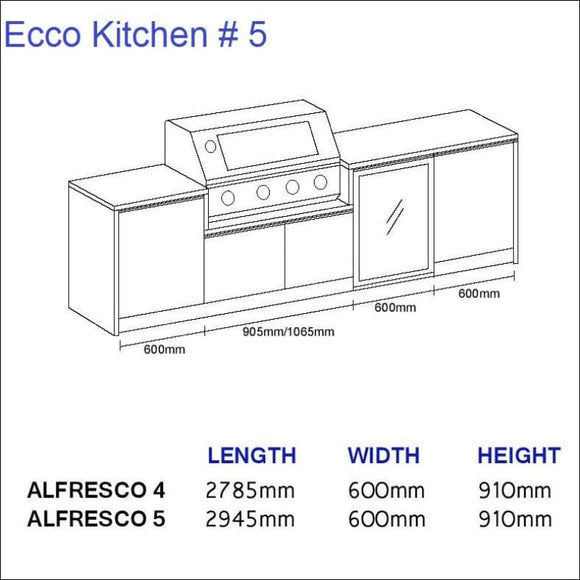 Ecco Kitchen 5 - up to 2945 mm long