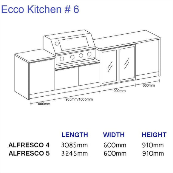 Ecco Kitchen 6 - up to 3245 mm long