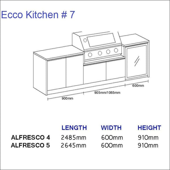 Ecco Kitchen 7 - up to 2645 mm long