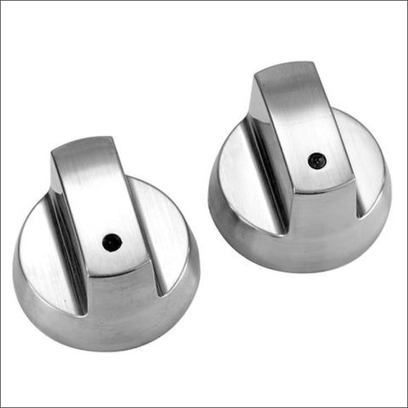 Gasmate - Chrome Look Barbecue Knobs - Spare Parts for Barbeques