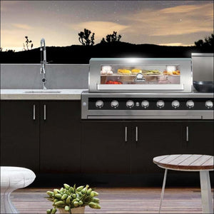 Gasmate - Galaxy Black 6 Burner Built in BBQ - Inbuilt Barbecues