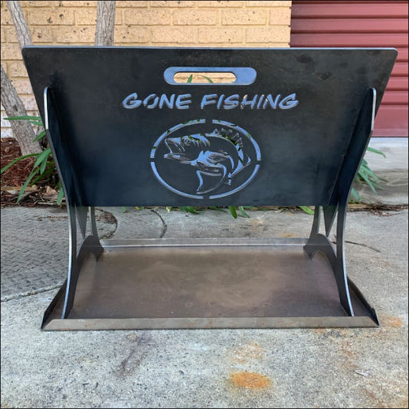 Gone Fishing Portable Fire Pit - Fire Pit