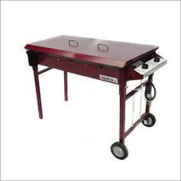 Heatlie - Barbecue 1150 Claret- 5mm plate- with lid - Gas Barbecues