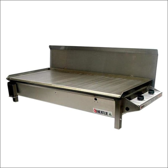 Heatlie 1150 Stainless Steel - Inbuilt flat plate BBQ with lid - Gas Barbecues