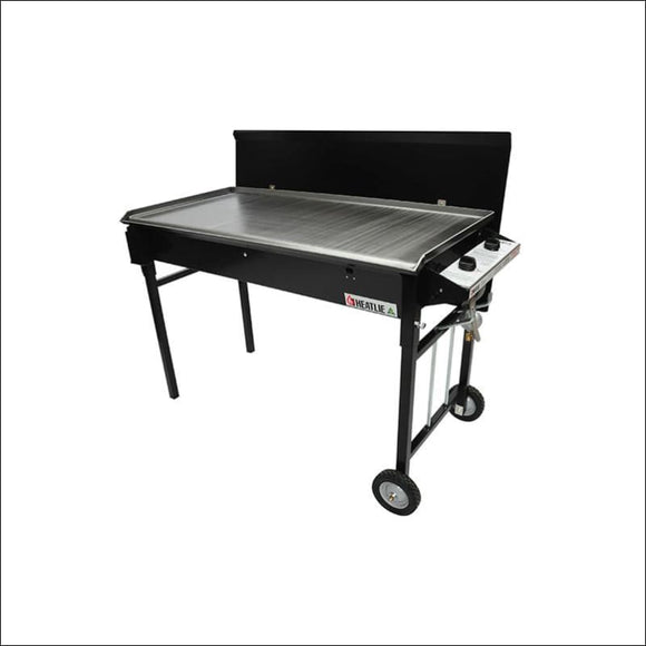 Heatlie - Barbecue 700 Black- 5mm plate- with lid - Gas Barbecues