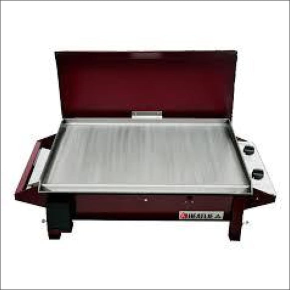 Heatlie - Barbecue 700 Claret- 5mm plate- with lid - Gas Barbecues