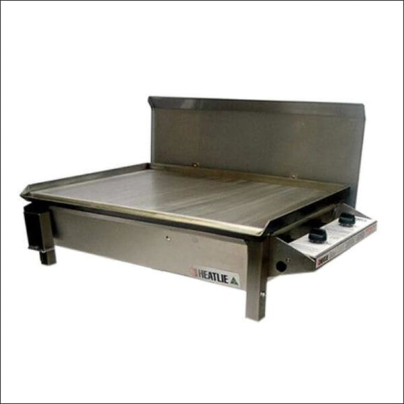 Heatlie 700 Stainless Steel - Inbuilt flat plate BBQ with lid - Gas Barbecues