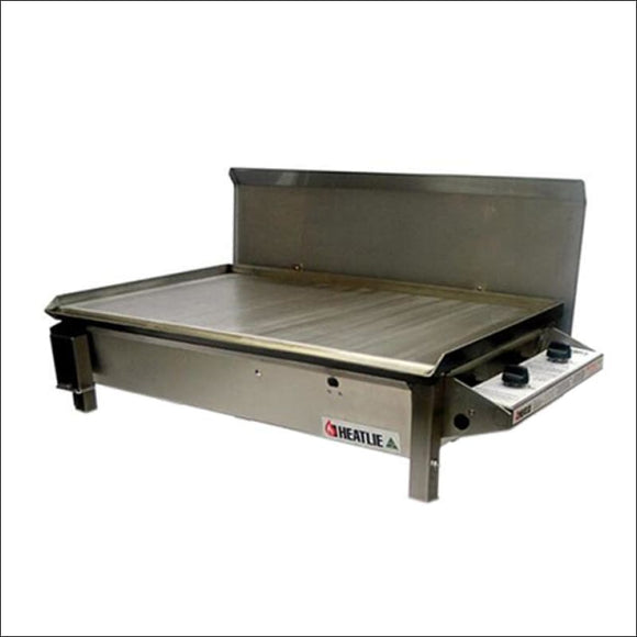 Heatlie 850 Stainless Steel - Inbuilt flat plate BBQ with lid - Gas Barbecues