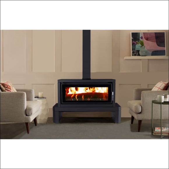 Maxiheat - Hearth Black 1.2 x 1.2 x 40mm - Wood Heater