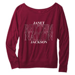 Rhythm Nation ladies long sleeve tee