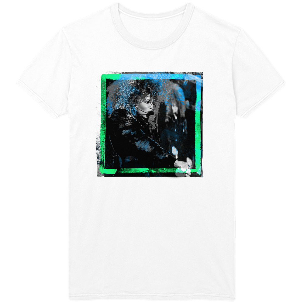 Janet Jackson Live Photo Tee - white