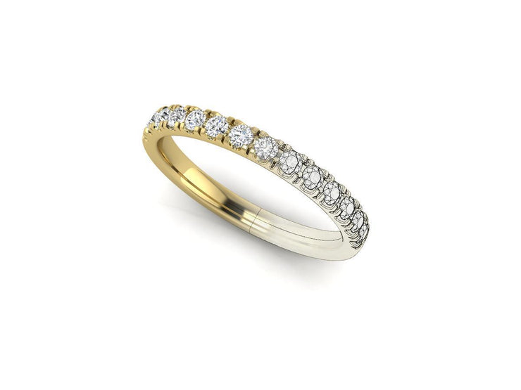 4 Claw Open Setting full circle - Yellow Gold Wedding Ring King
