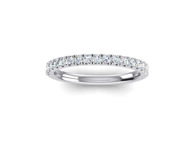 French Set - White Gold & Platinum Wedding Ring King