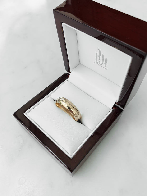 High Dome Gents Wedding Ring - Yellow Gold Wedding Ring King