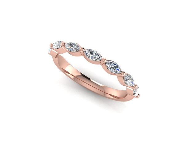 Marquise diamond - Rose Gold Wedding Ring King 18ct Rose Gold