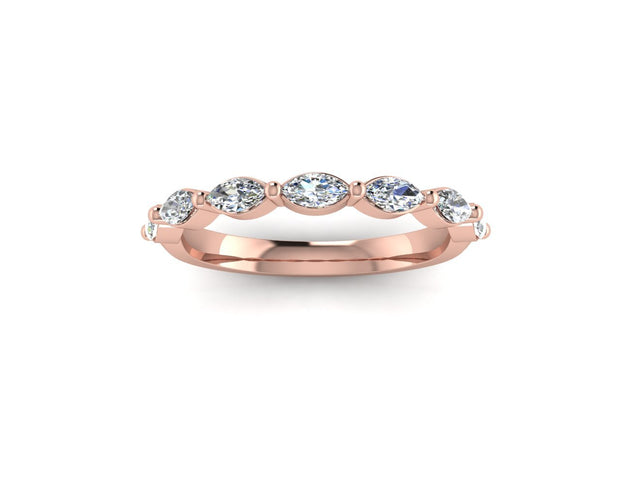 Marquise diamond - Rose Gold Wedding Ring King 9ct Rose Gold