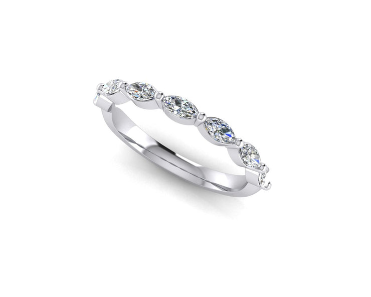 Marquise diamond - White Gold & Platinum Wedding Ring King 18ct White Gold