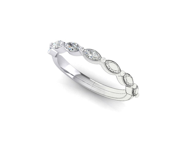 Marquise diamond - White Gold & Platinum Wedding Ring King