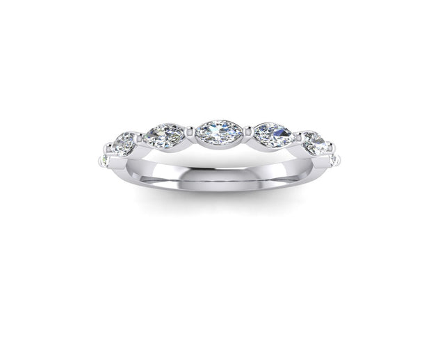 Marquise diamond - White Gold & Platinum Wedding Ring King 9ct White Gold