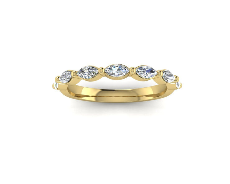 Marquise diamond - Yellow Gold Wedding Ring King 18ct Yellow Gold