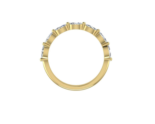 Marquise diamond - Yellow Gold Wedding Ring King