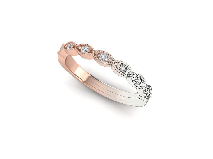 Marquise Shape - Rose Gold Wedding Ring King 18ct Rose Gold