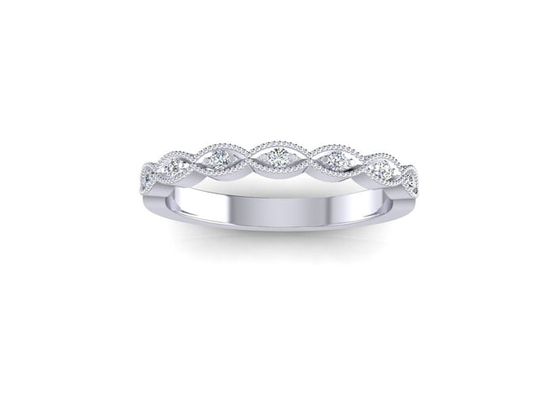 Marquise Shape - White Gold & Platinum Wedding Ring King