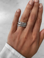 Pear-Shaped and Round Brilliant Ring - White Gold & Platinum Wedding Ring King