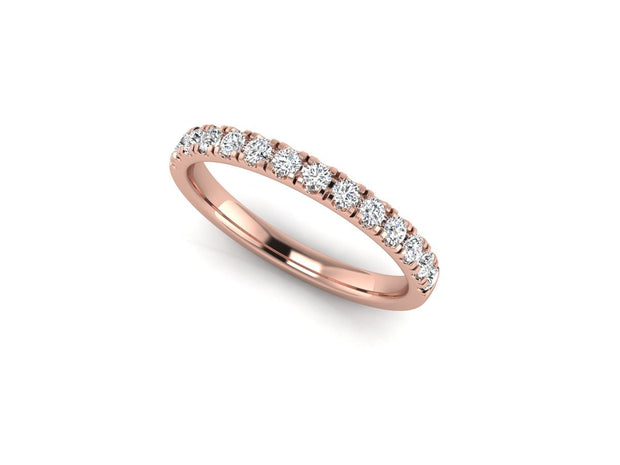 Queen Elizabeth 4 Claw Setting - Rose Gold Wedding Ring King 18ct Rose Gold 1.6mm