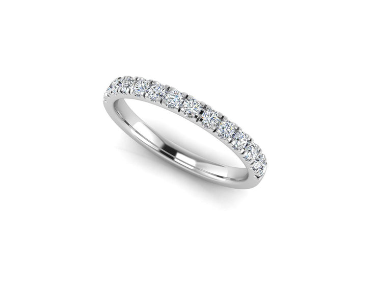 Queen Elizabeth 4 Claw Setting - White Gold & Platinum Wedding Ring King