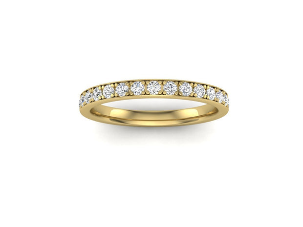 Queen Mary 4 Bead Pave - Yellow Gold Wedding Ring King