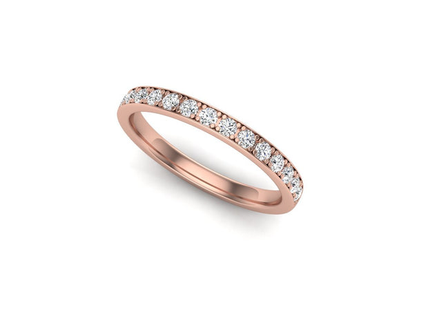 Queen Mary 4 Bead Setting - Rose Gold Wedding Ring King