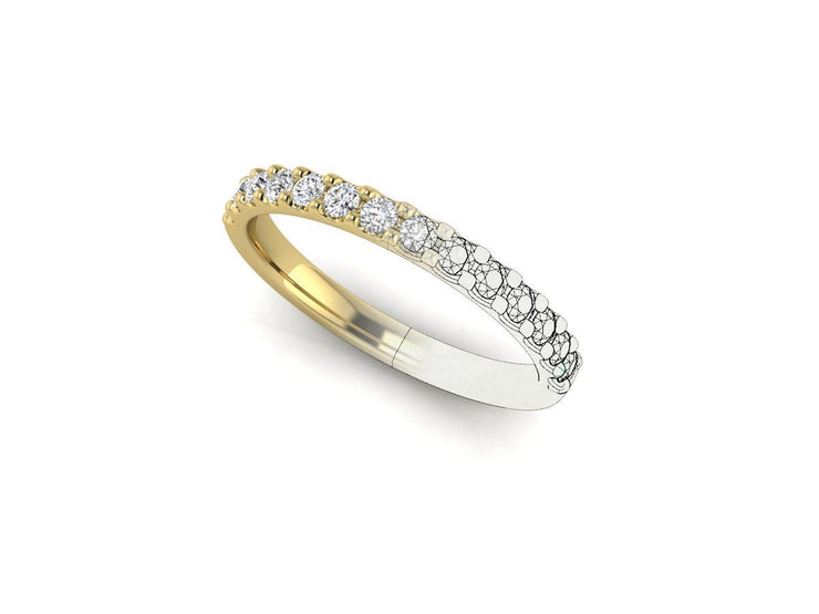 Queen Victoria 2 Shared Clew - Yellow Gold Wedding Ring King