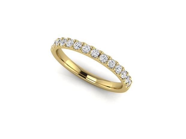 Queen Victoria 2 Shared Clew - Yellow Gold Wedding Ring King 18ct Yellow Gold 1.6mm