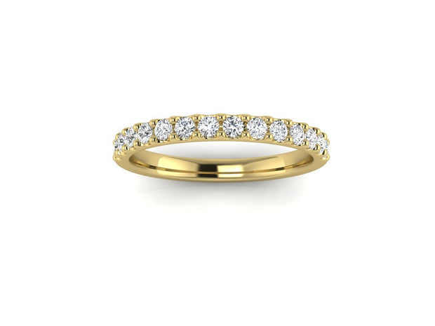 Queen Victoria 2 Shared Clew - Yellow Gold Wedding Ring King 9ct Yellow Gold 1.6mm