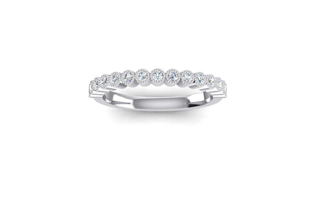 RB Bezel Set 2.0mm Diamond Ring - White Gold & Platinum Wedding Ring King