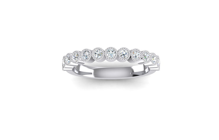 RB Bezel Set 2.5mm Diamond Ring - White Gold & Platinum Wedding Ring King