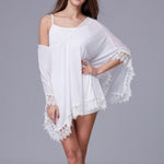 Fringe Poncho Cover-Up