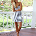Stripes Casual Bikini Dress Cover up